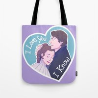 enerjax Tote Bags featuring I Know by enerjax