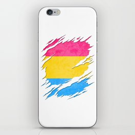 Pansexual Pride Flag Ripped Reveal iPhone Skin