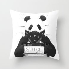 Bad panda Throw Pillow