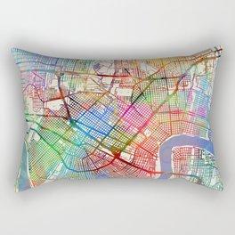 New Orleans Street Map Rectangular Pillow