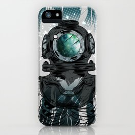 Deep Space Diver iPhone Case