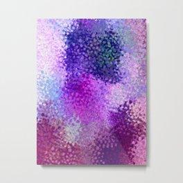 Absctract art watercolor art violet lilac minimalist poster Metal Print