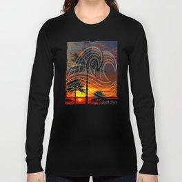South Shore Sunset & Waves Design Long Sleeve T-shirt