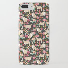 Pug floral dog breed must have gifts for pug lover pet pattern florals iPhone Case