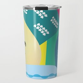 Abstract summer route Travel Mug
