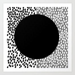 Drops B&W Art Print