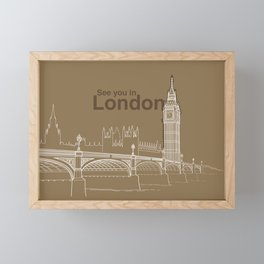See you in London Framed Mini Art Print