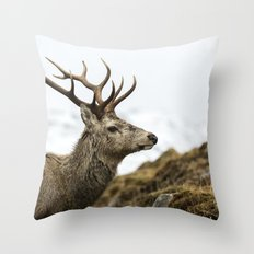 Royal Red Deer Stag Throw Pillow