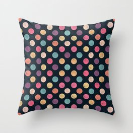 Watercolor Dots Pattern II Throw Pillow