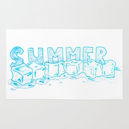 Icecubes summer Rug