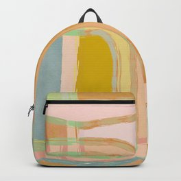 Shapes and Layers no.28 - Modern Squares and Stripes Backpack