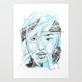 CHgirl Art Print