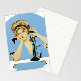 """C Coles Phillips 'Fadeaway Girl' """"Long Distance Call"""" Stationery Cards"""