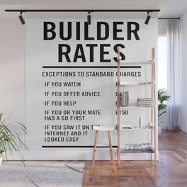 Builder Labour Rates Wall Mural