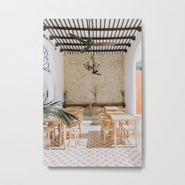 Wanderlust Interiors with Pink Tiles Metal Print