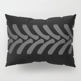 Black Tyre Marks Pillow Sham