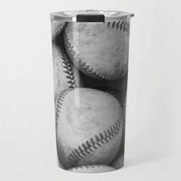Baseballs Black & White Graphic Illustration Design Travel Mug