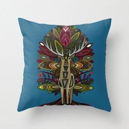 woodland prince blue Throw Pillow
