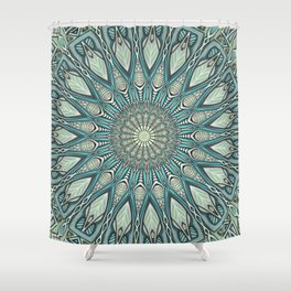 Eye of the Needle Mandala Art Shower Curtain