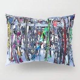 Ski Party - Skis and Poles Pillow Sham