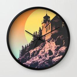BASS HARBOR LIGHTHOUSE SUN Wall Clock