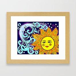 Celestial Watercolor Framed Art Print