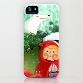 Hello Little Red Riding Hood iPhone Case