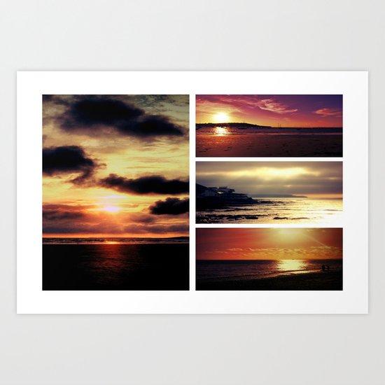 Set of sunsets Art Print