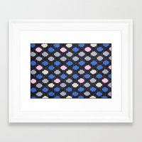 polka dots Framed Art Prints featuring Polka Dots  by MyLove4Art