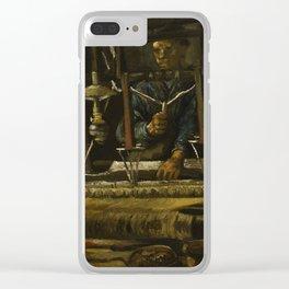 Vincent Van Gogh - A Weaver's Cottage Clear iPhone Case