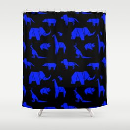 The Animals Come Marching One by One Shower Curtain