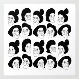 Bosses black hair Art Print