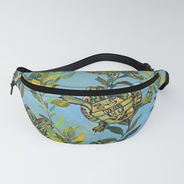 Slider Turtle Pattern by Robert Phelps Fanny Pack