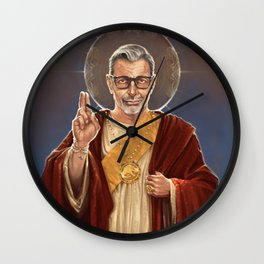 Saint Jeff of Goldblum Wall Clock