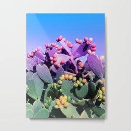 Sweet Rainbow Tropical Cactus #tropicalart #decor Metal Print