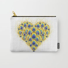 Peacock Heart Carry-All Pouch