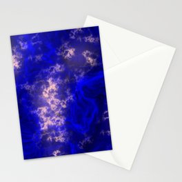 Midnight Blue Liquid Marble Pattern With Pastel Pink Stationery Cards
