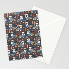 Corgi sailor custom pet friendly dog breed welsh corgis nautical pattern Stationery Cards