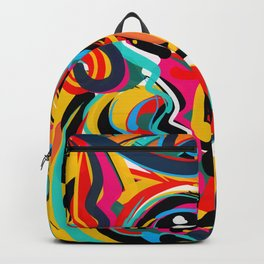 Yellow Street Art Neo Expressionist Portrait of the artist Backpack