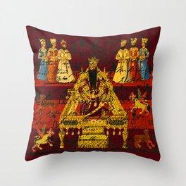 THE INDIAN KING Throw Pillow