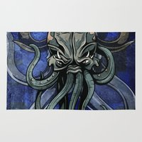 kraken Area & Throw Rugs featuring Kraken by Spooky Dooky