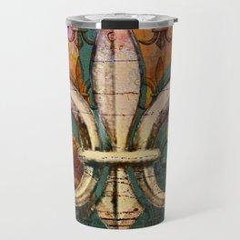 Patricia's Fleur de Lis Travel Mug