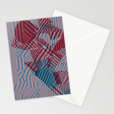 Dazzle Camo #02 - Blue & Red Stationery Cards