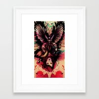 totem Framed Art Prints featuring Totem by Gavin Ho