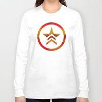 mass effect Long Sleeve T-shirts featuring Mass Effect Renegade by foreverwars