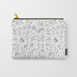 Sketchy flowers Carry-All Pouch