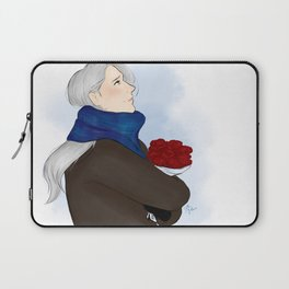 victor with roses - yuri on ice Laptop Sleeve