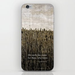 ecology {the earth has music iPhone Skin