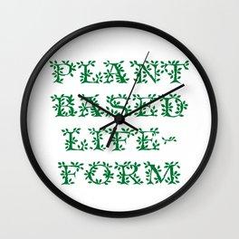 Plant Based Lifeform Wall Clock