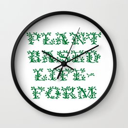 Plant Based Lifeform Wall Clock